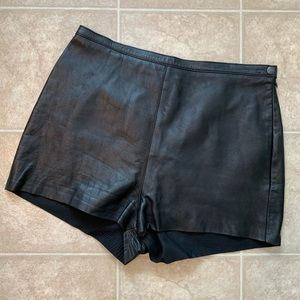 American Apparel Shorts - American Apparel Leather Tap Shorts